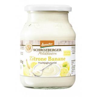 Demeter Zitrone-Banane Joghurt