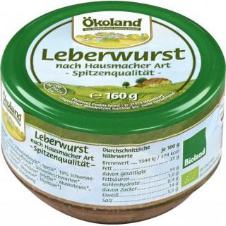 Leberwurst im Glas Bioland