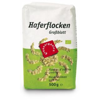 green Haferflocken grob