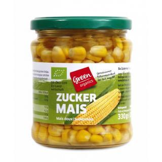 green Zuckermais i. Glas
