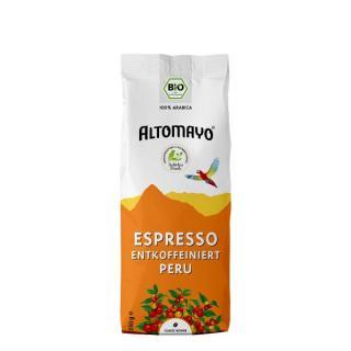 Bio-Espresso Bohnen entkoff.