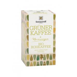 Grüner Kaffee im Beutel